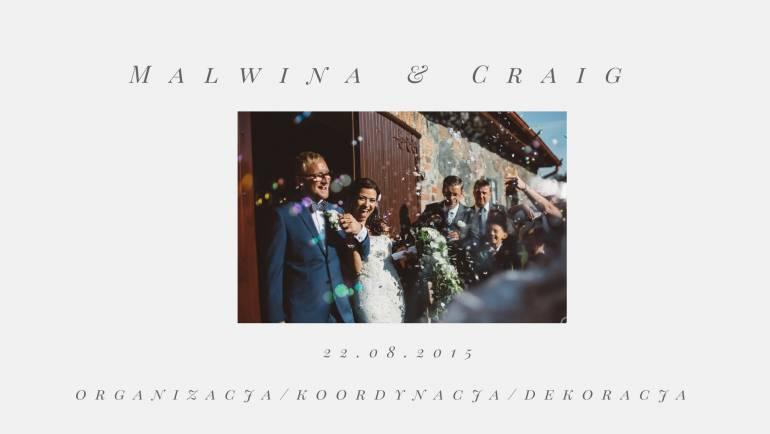 Międzynarodowe wesele Malwiny i Craiga – romantycznie, elegancko!