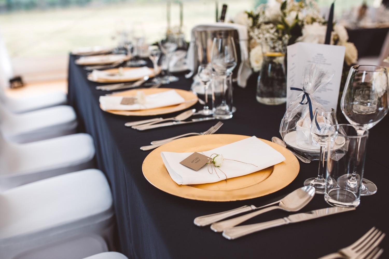 złote talerze ślubne
